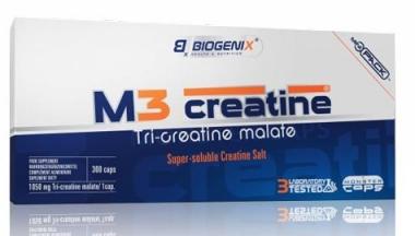 Jabłczan kreatyny BIOGENIX M3 Creatine Tri-Creatine Malate 300 kap.