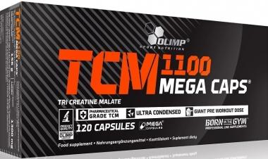 Jabłczan kreatyny w kapsułkach TCM 1100 Mega Caps 120 kap.