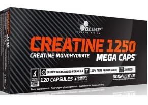 Mikronizowana kreatyna w kapsułkach Creatine 1250 Mega Caps 120 kap.